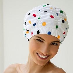 Bonnet de Douche à Pois Multicolore