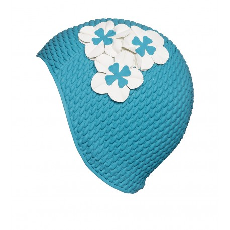 Bonnet de ban gaufré turquoise