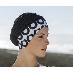 Bonnet de bain Noir Bandeau Design