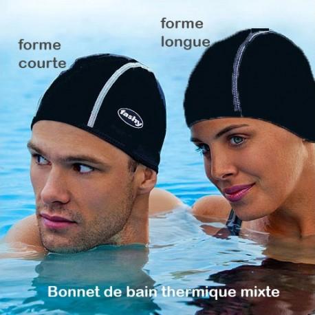 Bonnet de bain Thermique Noir Forme courte