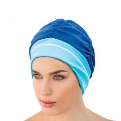Bonnet de bain Bleu marine et ciel