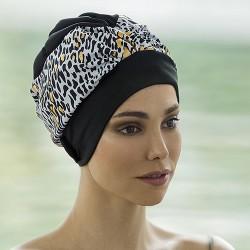 Bonnet de bain Tissu Moucheté Doré avec scratch