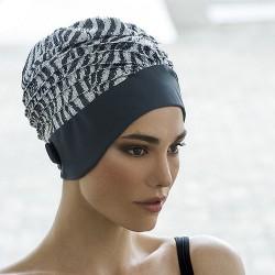 Bonnet de Bain Tissu Argenté Paillettes Sequins avec scratch