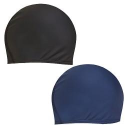 Bonnet de Bain Homme Lycra Noir ou Bleu