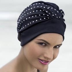 Bonnet de bain noir orné Clous