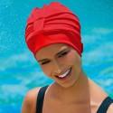 Bonnet de Bain Tissu Rouge avec scratch