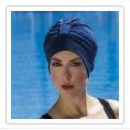 bonnet de bain tissu bleu
