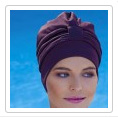 bonnet de bain tissu marron