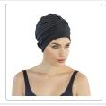 bonnet de bain tissu noir