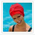 bonnet de bain tissu rouge