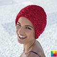 bonnet de bain tissu volants couleur