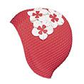 bonnet de bain gaufré rouge